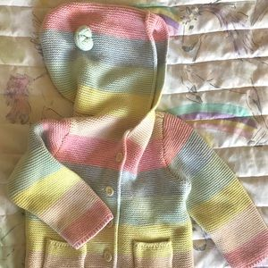 Baby Gap Brannan Bear Ears Cardigan